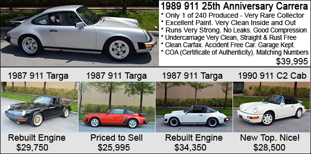 Vertex Automotive - Porsche for Sale
