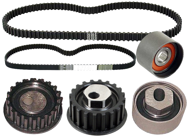 1983 thru 1986 Porsche 944 and 944 Turbo Belt and Roller Kit - 6 Piece
