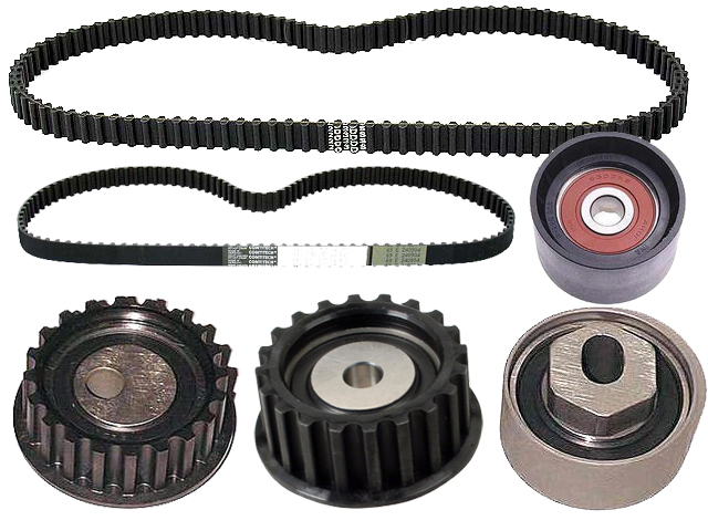 1987 thru 1991 Porsche 924S, 944 and 944 Turbo Belt and Roller Kit - 6 Piece