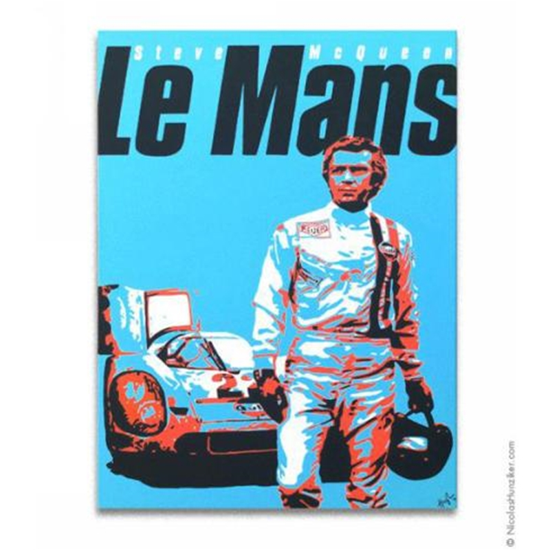 porsche steve mcqueen le mans canvas print nh393g. Black Bedroom Furniture Sets. Home Design Ideas