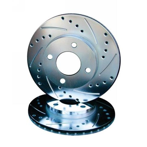Porsche Cross Drilled Slotted Brake Rotor - Rear
