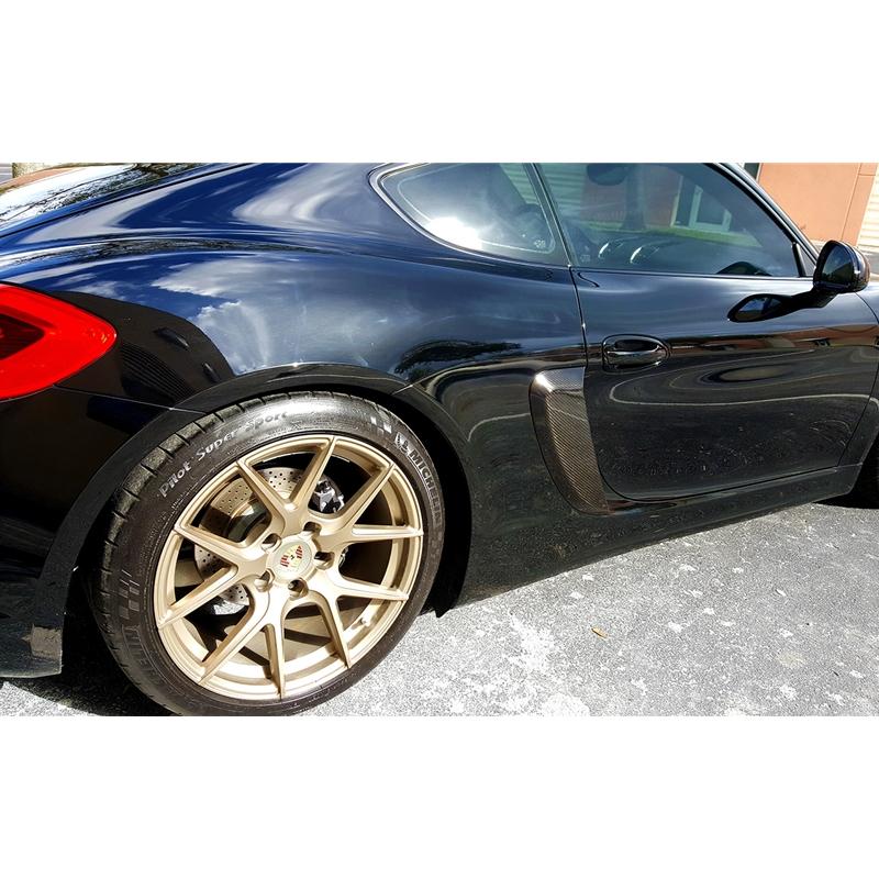 Porsche Cayman Gt4 Style Side Vents Carbon Fiber P981csvcf