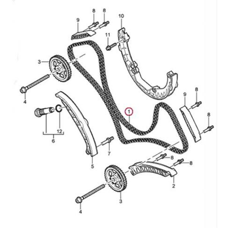 Porsche Timing Chain Cayenne Oem 94810516902
