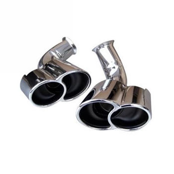 Porsche 996 Turbo Style Muffler Tips Set Chrome