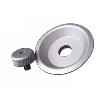 911 Door Lock Knob & Plate 4 Pc Set - Aluminum